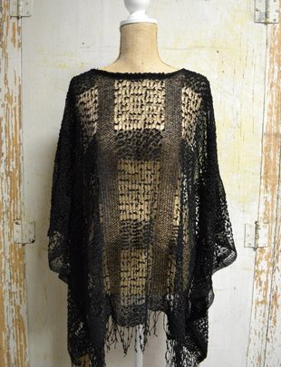 Open Weave Poncho (3 Colors)