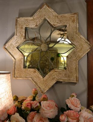 Vintage Distressed Star Mirror