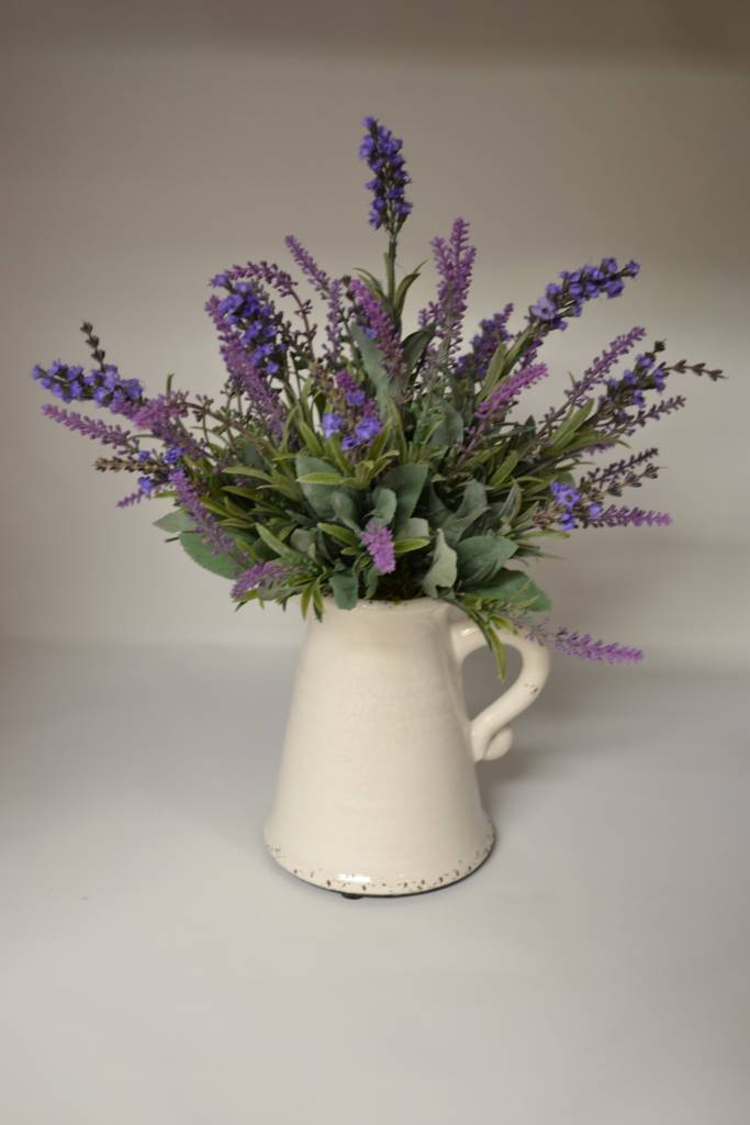 Custom Lavender in Pitcher Arrangement