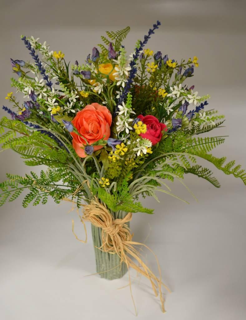 Custom Summer Mix Grass Vase