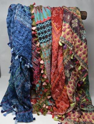 Caribbean Tassel Scarf (4 Colors)