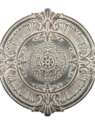 White Washed Wall Medallion