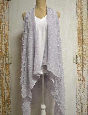 Polka Dot Sheer Vest (3 Colors)