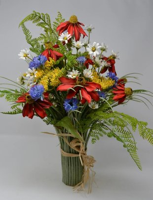 Custom Wildflower Grass Vase