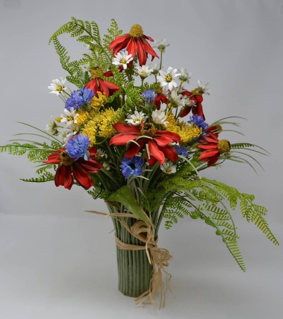 Custom Wildflower Grass Vase
