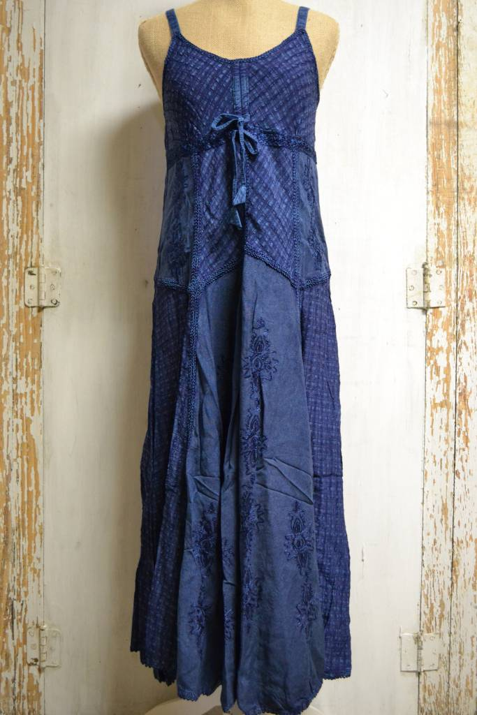 Embroidered Boho Long Dress