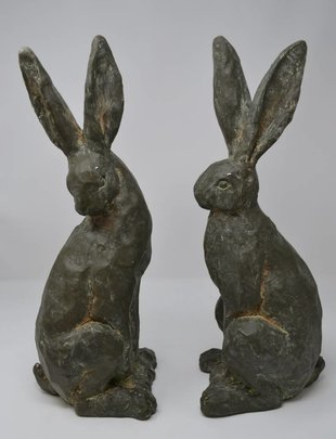 Set of 2 Sitting Rabbits