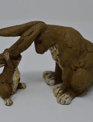 Ear Tug Mom & Baby Bunnies