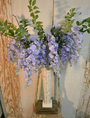 Periwinkle Wisteria Spray