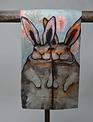 Bunny Friends Floral Towel