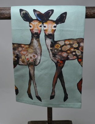 Dancing Fawn Friends Towel