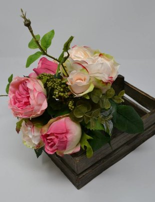 Pink Rose Foliage Bouquet