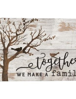 Together White Washed Wood Sign
