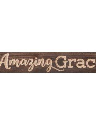 Amazing Grace Wooden Plaque