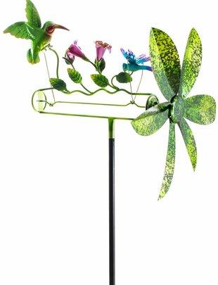 Moving Hummingbird Flower Stake