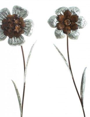 Galvanized Rustic Garden Flower Stake