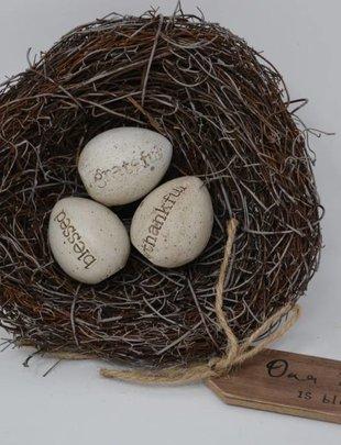 Bird Nest w/ Message Eggs