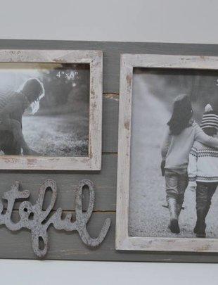 Grateful Double Photo Frame