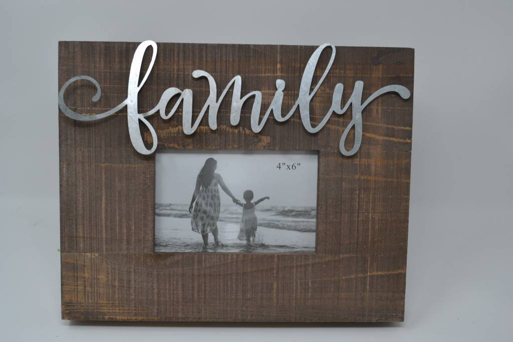 Tin Family Wooden Frame - The Last Straw