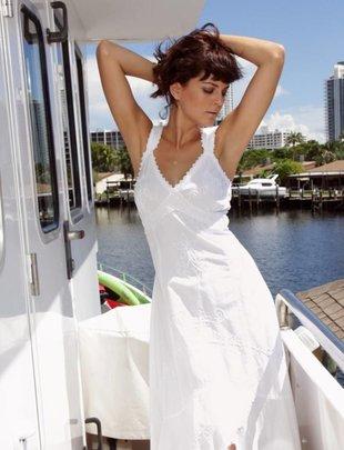 White Flower Full Length Dress