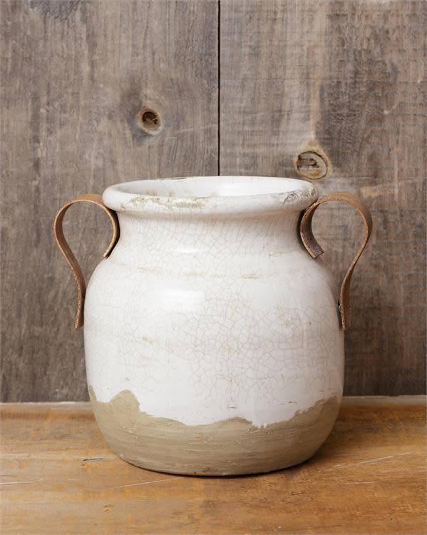 Earthenware Two Handled Vase