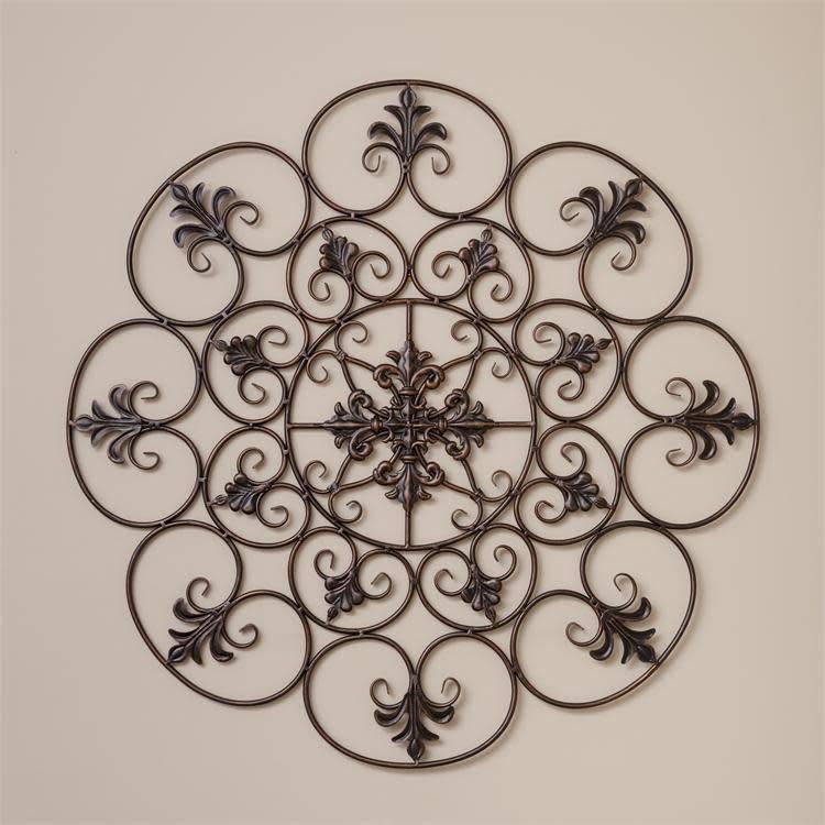 Medallion Fleur De Lis Wall Decor