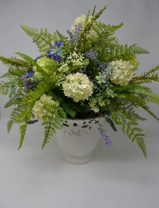 Large Cutout Vase Viburnum Arrangement