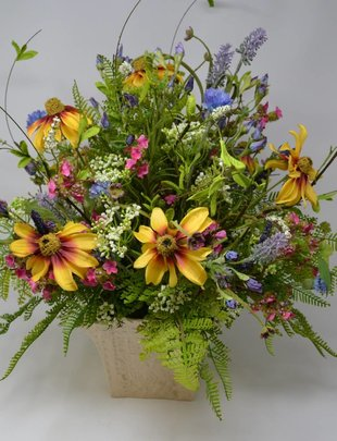 Mixed Spring Wildflower Arrangement