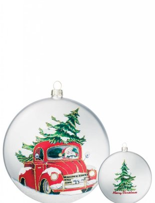 Red Truck Disk Ornament