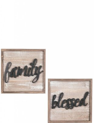 Square Wooden Sign (2 Styles)