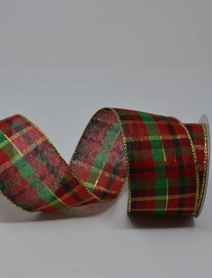 Traditional Christmas Plaid Ribbon