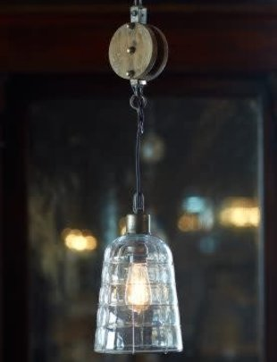 "52"" Pulley Pendant Light"
