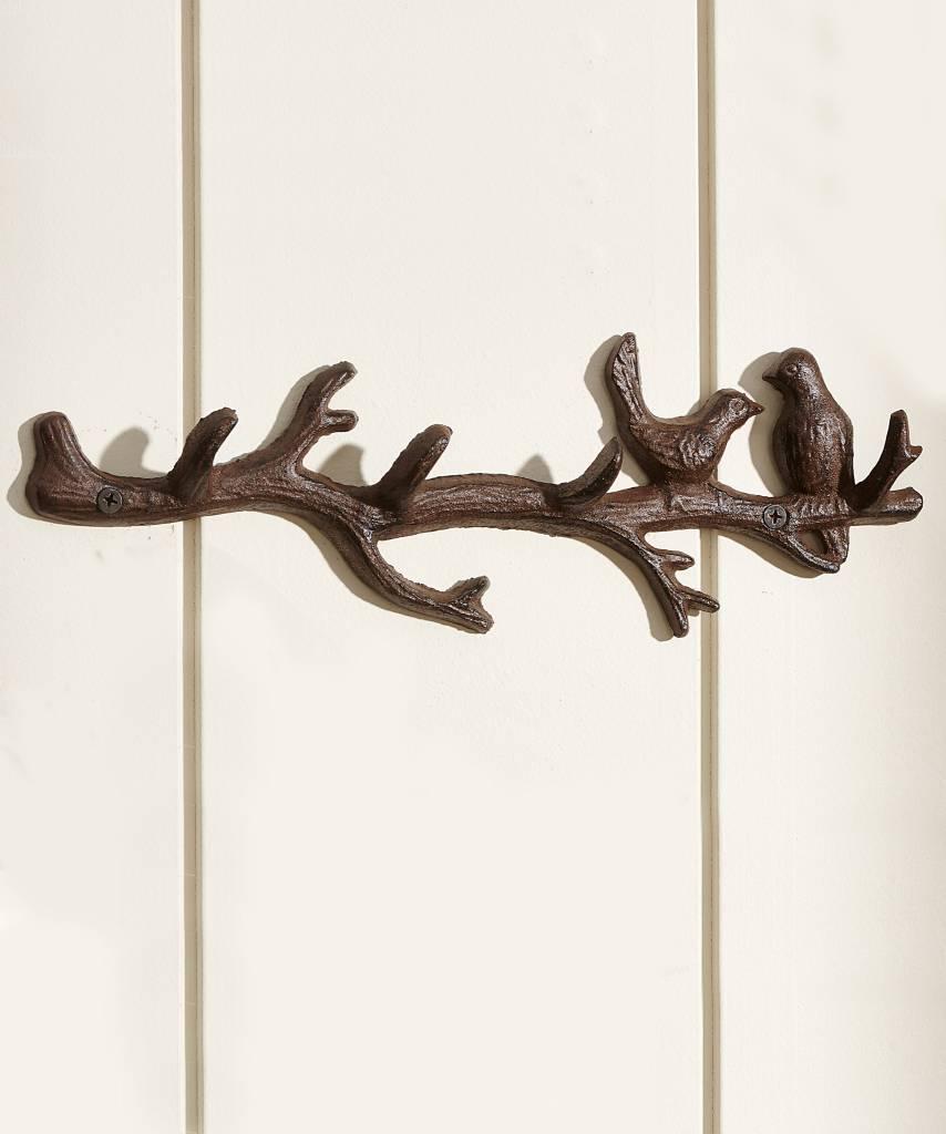 Birds on Branch Wall Hook