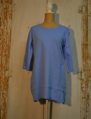 Button Sleeve Pocket Tunic (2 Colors)