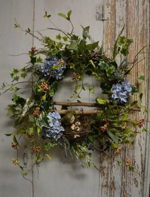 Custom Bird Nest Sticks Wreath