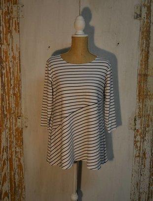 Asymmetrical Stripe Tunic (2 Colors)