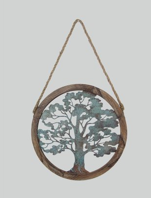 Distressed Metal Tree of Life Wall Art