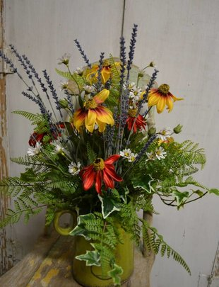 Black Eyed Susan Pitcher Custom Arrangement