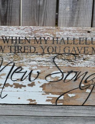 My Hallelujah Reclaimed Pallet Sign
