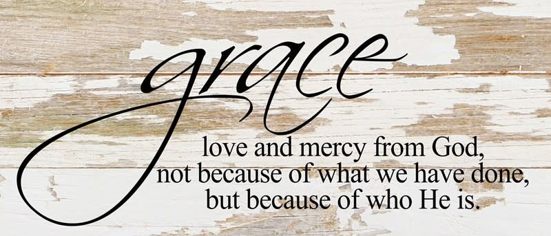 Grace Love & Mercy Reclaimed Pallet Sign