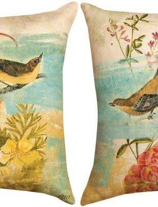 Birds in The Garden Pillow