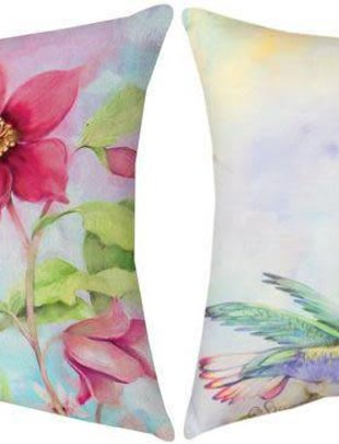Nature's Grace Hummingbird Petunia Pillow