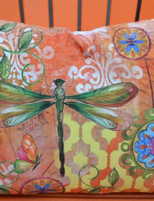 Dragonfly Flight Pillow