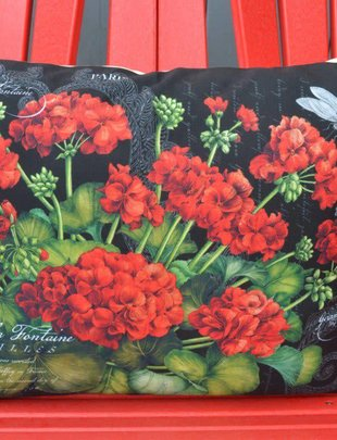 Black Geranium Pillow