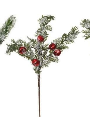 Jingle Snow Foliage Pick (3 Styles)