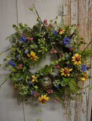 Wildflower Nest Custom Wreath