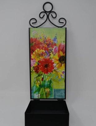 Watercolor Wildflower Wall Birdfeeder