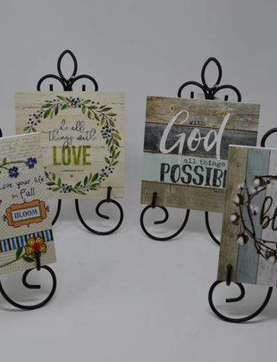 Decorative Tile w/ Easel (4 Styles)