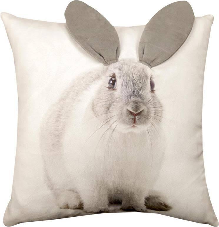 3D Bunny Print Pillow