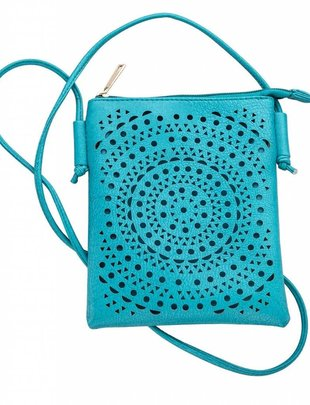 Medallion Cutout Crossbody Bag (4 Colors)